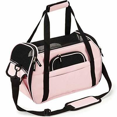Kaka mall Transportín Perro Gat(S-(Upgraded): 43Lx23Wx29H cm Rosa)