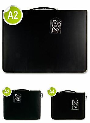Icon A4/A4/A2 Black Professional Art/Business Portfolio RingBinder Storage Cases