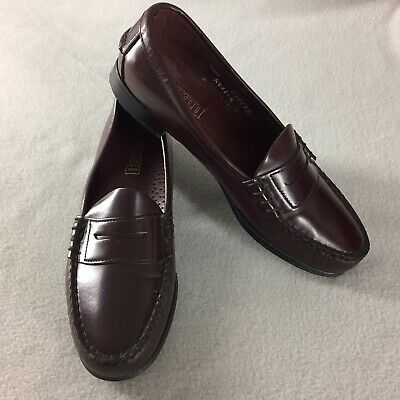 1dc69f235 Dexter Penny Loafers Burgundy Leather Women Size 6 1 2 M USA Hand Sewn  Vintage