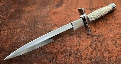 """Gil Hibben 12 1/2"""" Silver Shadow Stainless Steel Blade Dagger Knife GH0441"""