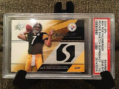6ff62f48501 2004 SPX BEN ROETHLISBERGER RC JERSEY Graded PSA 10 GEM MINT STEELERS!