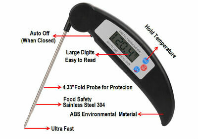 BBQ Thermometer Digital Instant Read Food For Turkey Meat Grill Outdoor Magnet