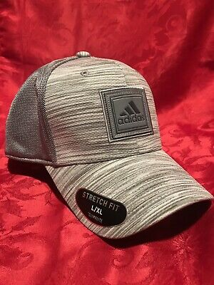 0e1b6ec981aa2 adidas C M Veterans Stretch Fit Hat Cap L XL Grey Onix Space Dye Mens