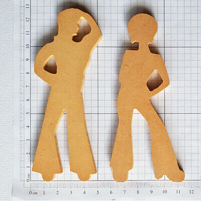 Folk Art Wooden Shape - Man And Woman Shapes