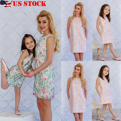 8ae9e51cae Mommy and Me Family Matching Dress Mother Daughter Floral Holiday Maxi Dress
