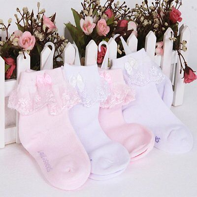 Girls Socks Cute Baby Kids Breathable Soft Cotton Children Lace Toddler Kingstor