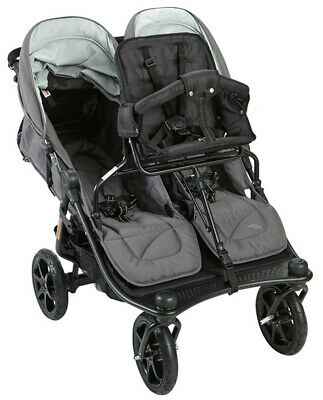 Valco Baby Twin Tri Mode Duo X Double Triple Stroller Dove Grey w/ Toddler Seat