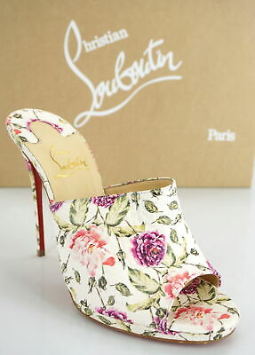 4a055822f56 Christian Louboutin Floral Pigalle Pigamule Snakeskin Mule Size 38.5 New   1195