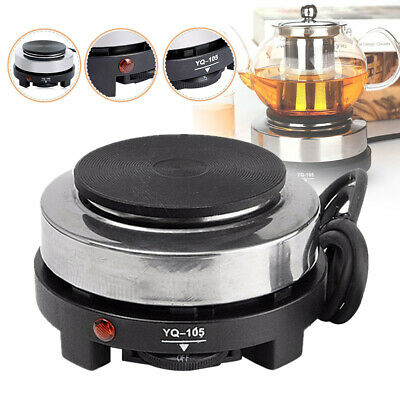 Portable Electric Stove Burner Hot Plate Kitchen Coffee Tea Cooker Heater 500W