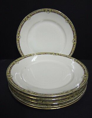 Lot De 6 Assiettes Plates Porcelaine De Limoges A. Tantot Paris 1900