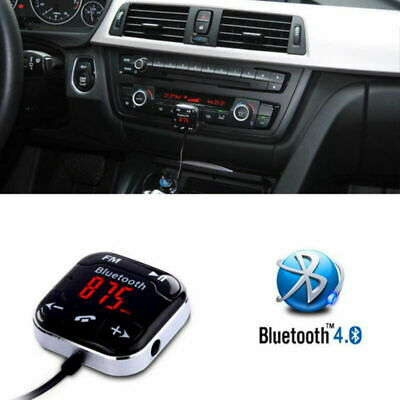 Handsfree Wireless Bluetooth LCD USB MP3 AUX SD FM Transmitter Magnet Car Kit