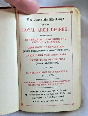 1935 Complete Workings Of The Royal Arch Degree Masonic Book (119)