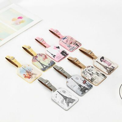 1PCS Creative Eiffel Tower Luggage Tag Leather Travel Accessories