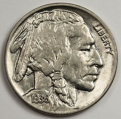 1936 Buffalo Nickel.  B.U.  125120