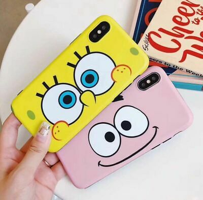 Cartoon SpongeBob Soft Protect Phone Case For iPhone XS MAX XR X 8 7 6s 6 Plus