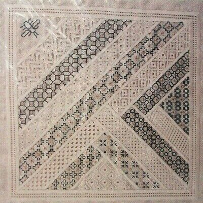 BLACKWORK, GOLDWORK & PULLED THREADS Cross Stitch Embroidery Pattern ULTRA RARE!
