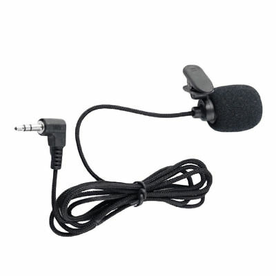 Clip On Lapel Microphone Hands Free Wired Condenser Mini Lavalier Mic 3.5mm Hot