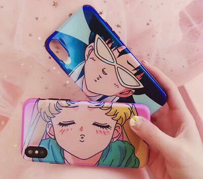 Blue Ray Cartoon Sailor Moon Tuxedo Mask Phone case for iphone 6 6s 7 8 plus X