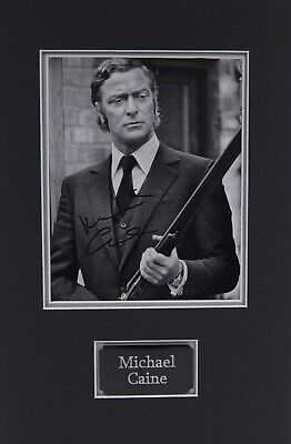 Michael CAINE Signed & Mounted 10x8 Photo AFTAL COA Get Carter British Actor