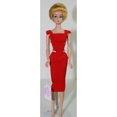 1962 Barbie Fashion Queen Blonde w/Outfit #981 Busy Gal w/ Wigs & Stand 1960's