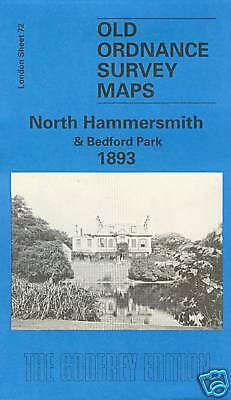 Old Ordnance Survey Map Of North Hammersmith & Bedford Park 1893