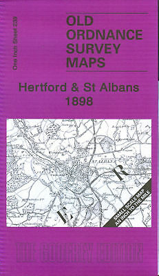 Old Ordnance Survey Map Hertford & St Albans 1898