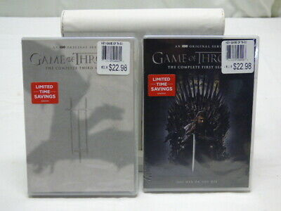 Games of Thrones 1st, 3rd Season DVD 5 Disc Set 2017 Factory Sealed New