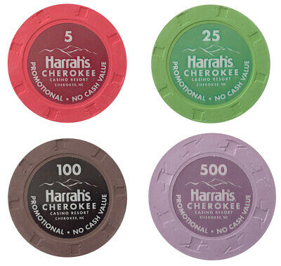 (4) Harrah's Cherokee Casino Paulson Poker Sample Set