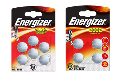 Brand New Energizer CR2032 3V Lithium Coin Cell Battery 2032 - Pack of 10