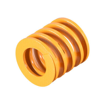25mm OD 25mm Long Spiral Stamping Light Load Compression Mould Die Spring Yellow