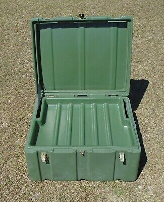 US Military Issue Hardigg OD Green Footlocker Trunk Storage Medical Case Box