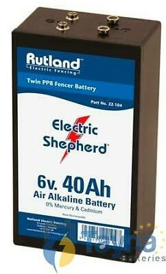 Rutland 6V 40Ah Air Alkaline Twin PP8 Electric Fence Batterij