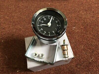 Triumph Stag 52 Mm black faced car clock With Chrome Rim Illuminated