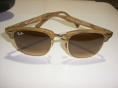 325a80359b8ef RAY BAN CLUBMASTER Wood RB3016M Sunglasses in Excellent Condition ...