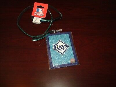 TAMPA BAY RAYS  ID HOLDER WALLET BEADED  Lanyard Key Chain TICKET NEW RARE