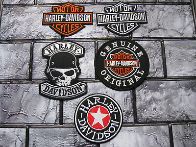 5X Aufnäher Patch Motorcycles Harley-Davidson Racing Motorradsport Biker-MC Race