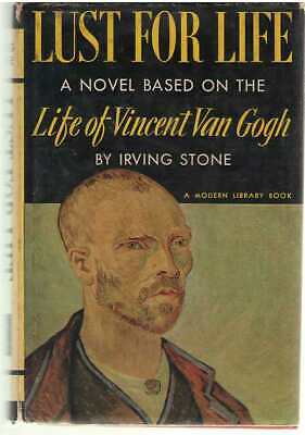 Lust For Life A Novel of Vincent Van Gogh by Irving Stone - Modern Library 11.3