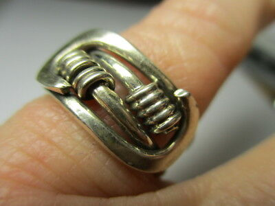 Sterling Silver 925 Estate Coil Twist Wrapped Loop Ends Band Ring Size 5.5