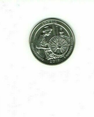 2019-D Brilliant Uncirculated Lowell National Park (MA) 25 Cent Coin!