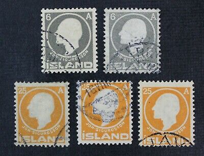 CKStamps: Iceland Stamps Collection Scott#89 91 Used