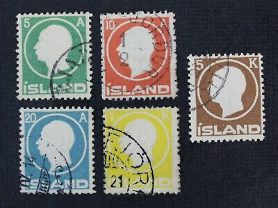 CKStamps: Iceland Stamps Collection Scott#92/98 Used
