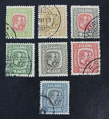 CKStamps: Iceland Stamps Collection Scott#99-107 Used