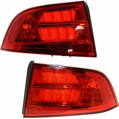 AC2818104, AC2819104 Right+Left Side New Set of 2 Tail Lights Lamps LH & RH Pair