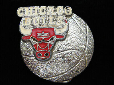 Pe05159 Vintage 1992 **Chicago Bulls** Nba Basketball Team Sports Belt Buckle