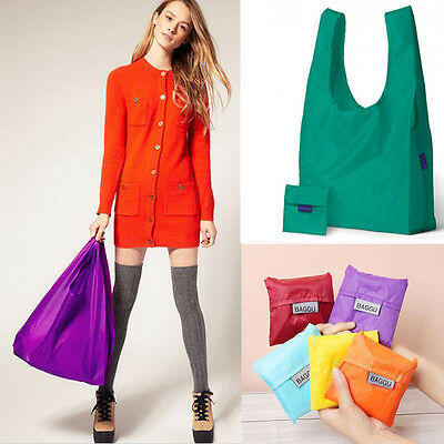 Eco Friendly Reusable Foldable Waterproof Shopping Bag Storage Tote Handbag 1PC