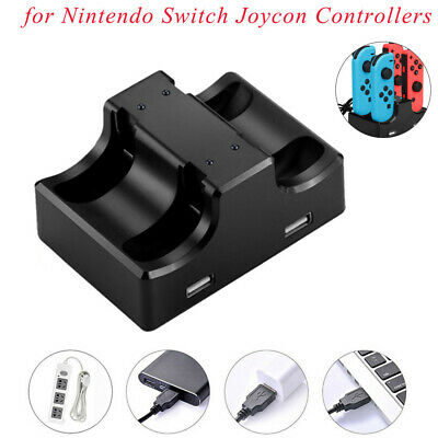 Joy-Con Charging Station Stand 4 in 1 For Nintendo Switch Joycon Controllers