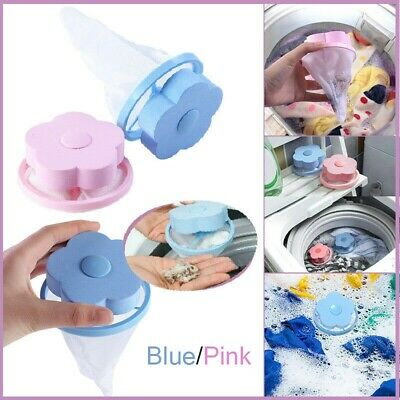 Floating Pet Fur Catcher Laundry Lint & Pet Hair Remover Washer Filter Bag Clean