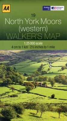 Walkers Map North York Moors (western) (Map), AA Publishing