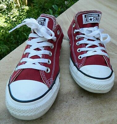 VINTAGE Converse All Star Maroon Size 6