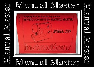 SINGER 2259 ZigZag Sewing Machine Operating Instructions Manual Booklet